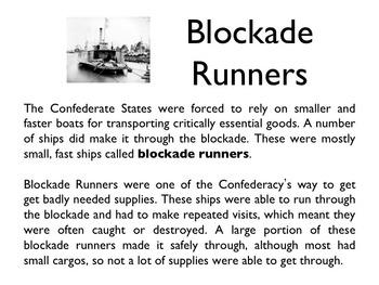 Civil War - The Union Blockade PowerPoint