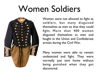 Civil War - The Women Of The Civil War PowerPoint