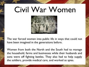 Civil War - The Women Of The Civil War PowerPoint