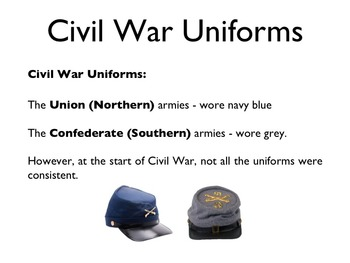 Civil War - Uniforms PowerPoint