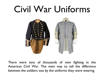 Civil War - Uniforms PowerPoint