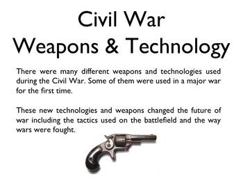 Civil War - Weapons & Technology PowerPoint
