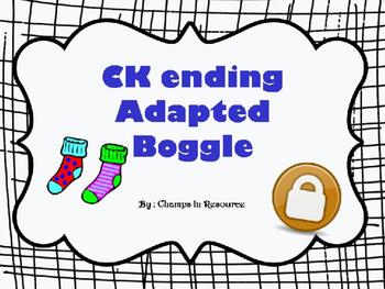 CK Boggle Freebie