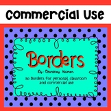 50 Borders for Commercial Use {Color and Black & White}