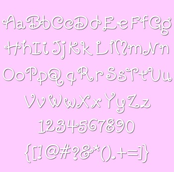 CK Curly Q Font for Classroom and Commercial Use