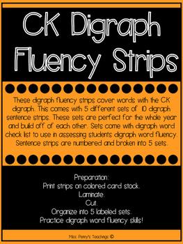 CK Digraph Fluency Strips