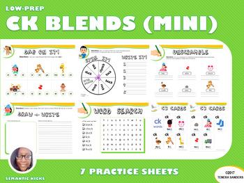 Mini Version: CK Blends Practice Workbook (LOW PREP)