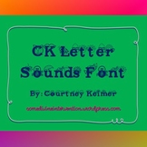 CK Letter Sound Font for Personal & Classroom Use