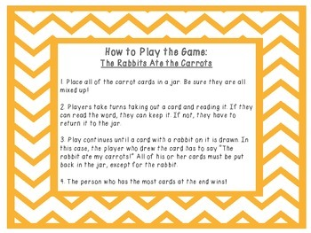 CK Phonics Game -- The Rabbits Ate the Carrots