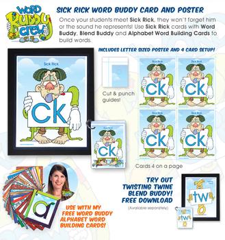 CK (Sick Rick) Word Buddy Card and Poster