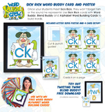 CK (Sick Rick) Word Buddy Card and Poster