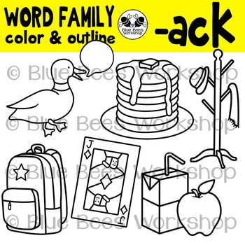 CK Word Family Clip Art Bundle