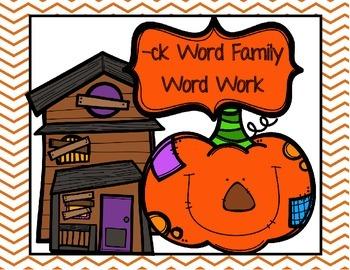 CK Word Family Word Work- Halloween & Farm Edition