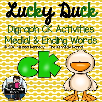 CK Medial and CK Ending Words {Cut and Glue Worksheets & 2