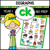 Digraphs: CK Worksheets ~ NO PREP Printables