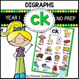 Digraphs: CK Worksheets ~ NO PREP Printables