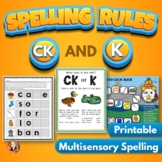 CK and K Spelling Rule Activities