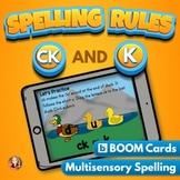 CK and K Spelling Rule Digital Boom Task Cards