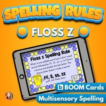 Floss Spelling Rule Digital Boom Task Cards
