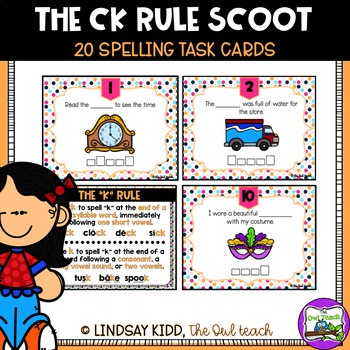 CK and K:  Spelling SCOOT Game