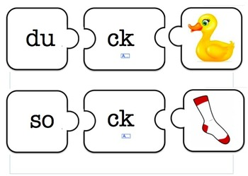 ck digraph puzzles by c baxtereducation teachers pay teachers. Black Bedroom Furniture Sets. Home Design Ideas