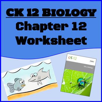 CK12 Biology Chapter 12 Reading Worksheet