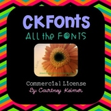 CKFonts Bundle 100 Sweet Fonts for Teachers (Commercial Use)