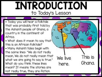 CKLA 1st Grade D1L10: All Stories are Anansi's Flipchart
