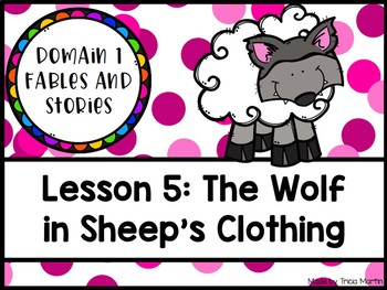 CKLA 1st Grade D1L5: The Wolf in Sheep's Clothing Flipchart