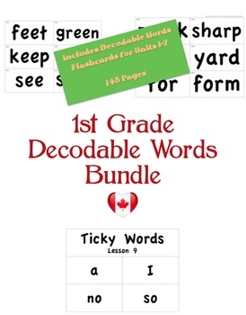 CKLA 1st Grade Decodable Words BUNDLE