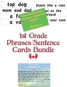 CKLA 1st Grade Phrase/Sentence Cards BUNDLE
