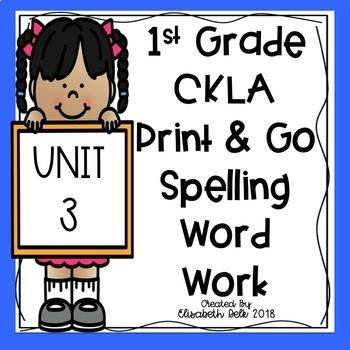 CKLA 1st Grade Print & Go Spelling Word Work