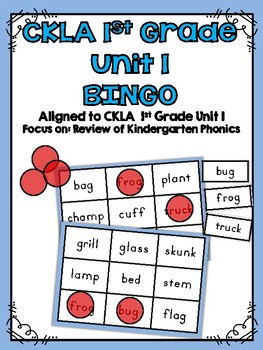 CKLA 1st Grade Skills Unit 1 BINGO