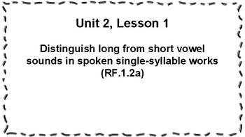 CKLA 1st Grade Skills: Unit 2 Objectives