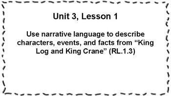 CKLA 1st Grade Skills: Unit 3 Objectives