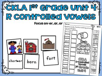 CKLA 1st Grade Skills Unit 4 R-Controlled Vowels Sorting A