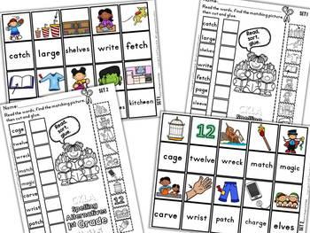 CKLA 1st Grade Skills Unit 5 Spelling Alternatives Matching Activities
