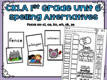 CKLA 1st Grade Skills Unit 6 Spelling Alternatives Matching Activities