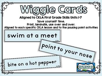 CKLA 1st Grade Skills Wiggle Cards Units 1-7