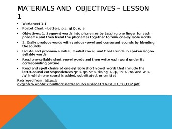 CKLA 1st Grade Unit 1 Lessons 1-5