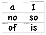 CKLA 1st Grade Tricky Words Work Flash Cards