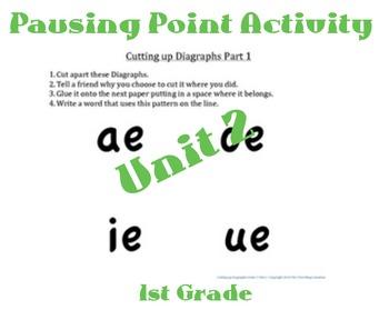 CKLA 1st Grade Unit 2 Cutting up Digraphs Worksheet