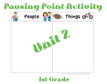 CKLA 1st Grade Unit 2 Noun Word Sorts