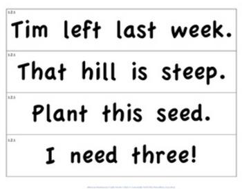 CKLA 1st Grade Unit 2 Phrases/Sentences Flashcards
