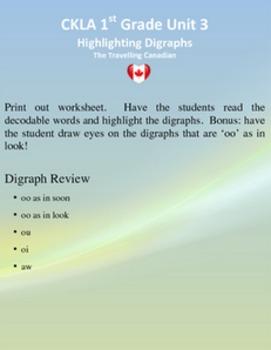 CKLA 1st Grade Unit 3 Highlighting My Digraphs
