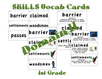 CKLA 1st Grade Vocabulary Cards Domain 11