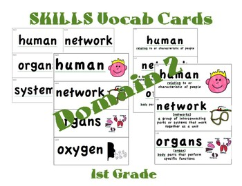CKLA 1st Grade Vocabulary Cards Domain 2