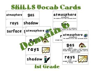 CKLA 1st Grade Vocabulary Cards Domain 6
