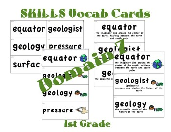 CKLA 1st Grade Vocabulary Cards Domain 7