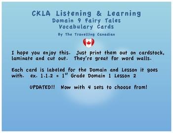CKLA 1st Grade Vocabulary Cards Domain 9